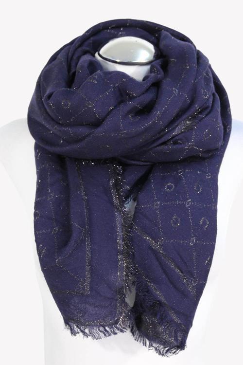 Hugo Boss Schal in Blau aus Modal .1