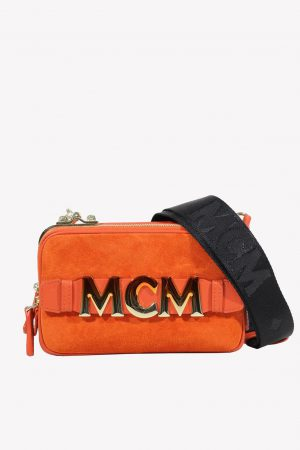 Umhängetasche in Rot aus Leder MCM