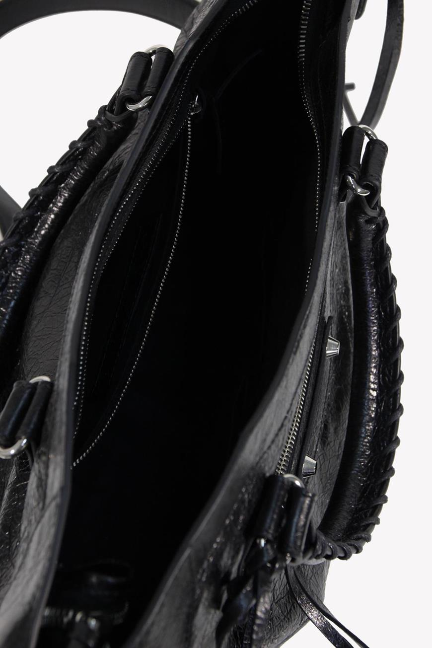 Handgelenktasche in Schwarz aus Leder Balenciaga