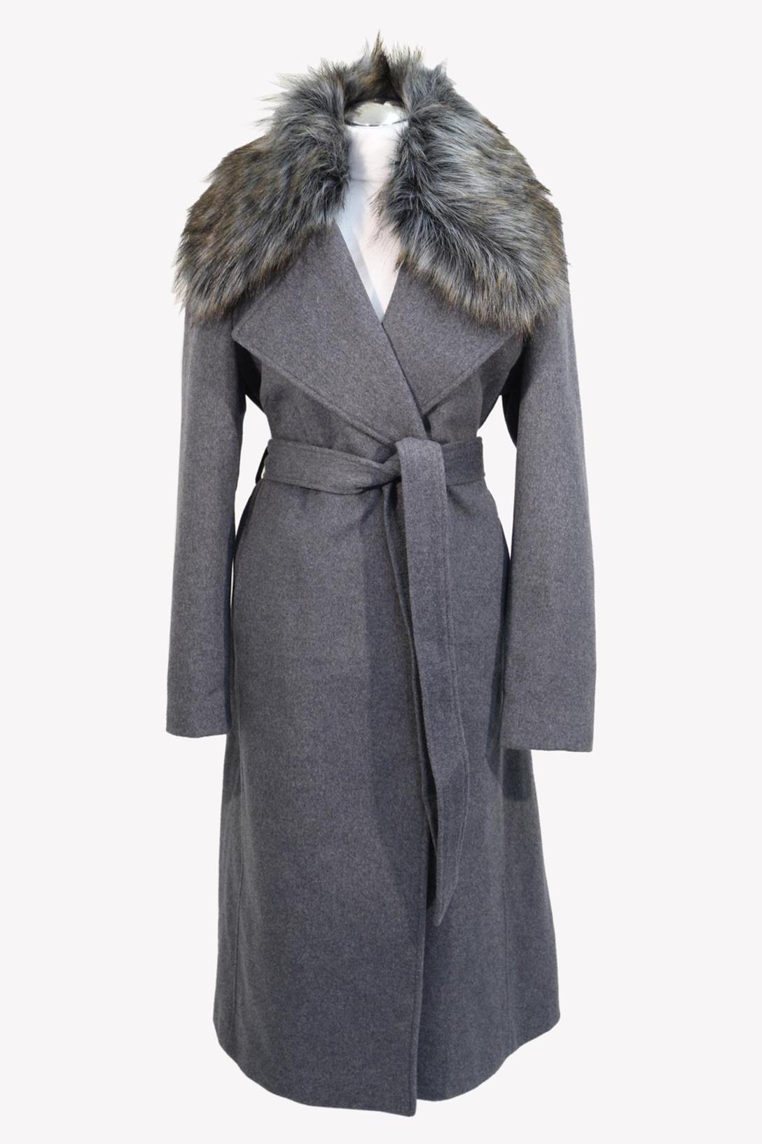 Mantel in Grau aus Wolle Karl Lagerfeld