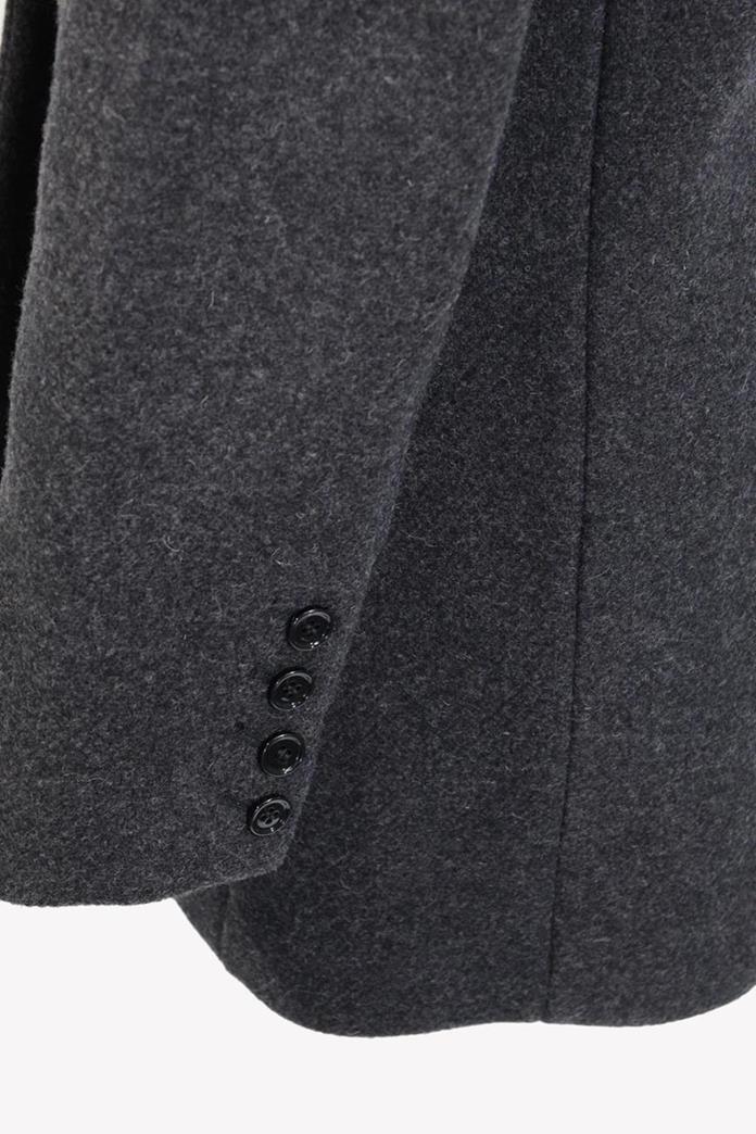 Mantel in Grau aus Wolle Iro