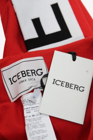 Stoffhose in Rot aus Baumwolle Iceberg