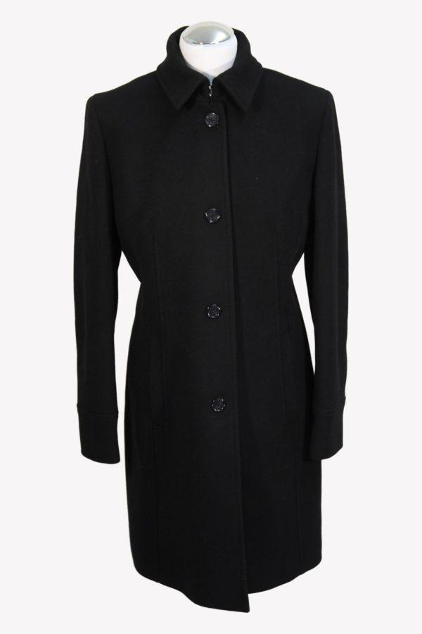 Hugo Boss Mantel in Schwarz aus Wolle aus Wolle Herbst / Winter.1