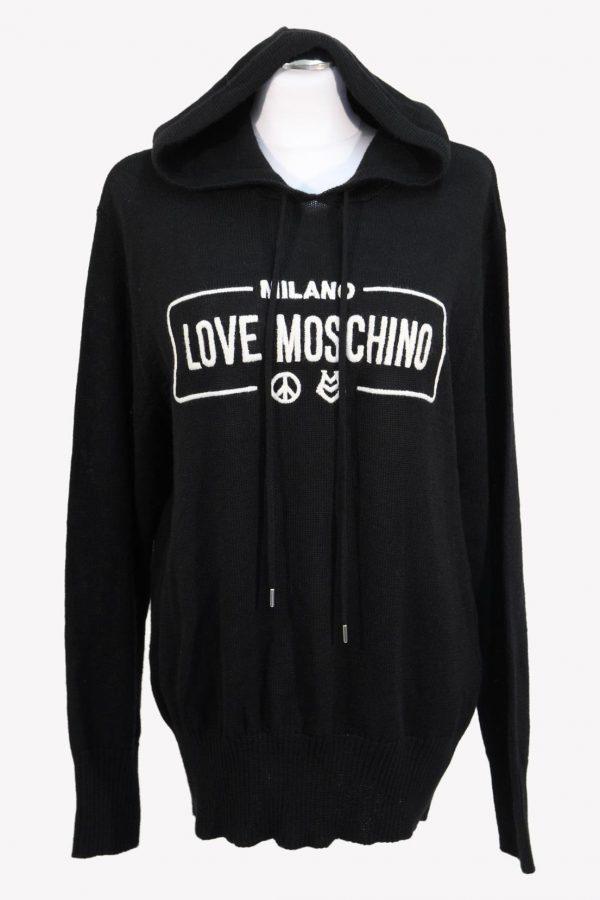 Love Moschino Strickjacke in Schwarz aus Wolle aus Wolle Alle Jahreszeiten.1