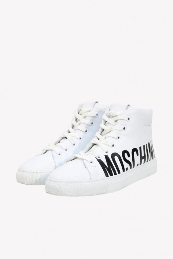 Moschino Sneaker in Weiß aus Leder .1