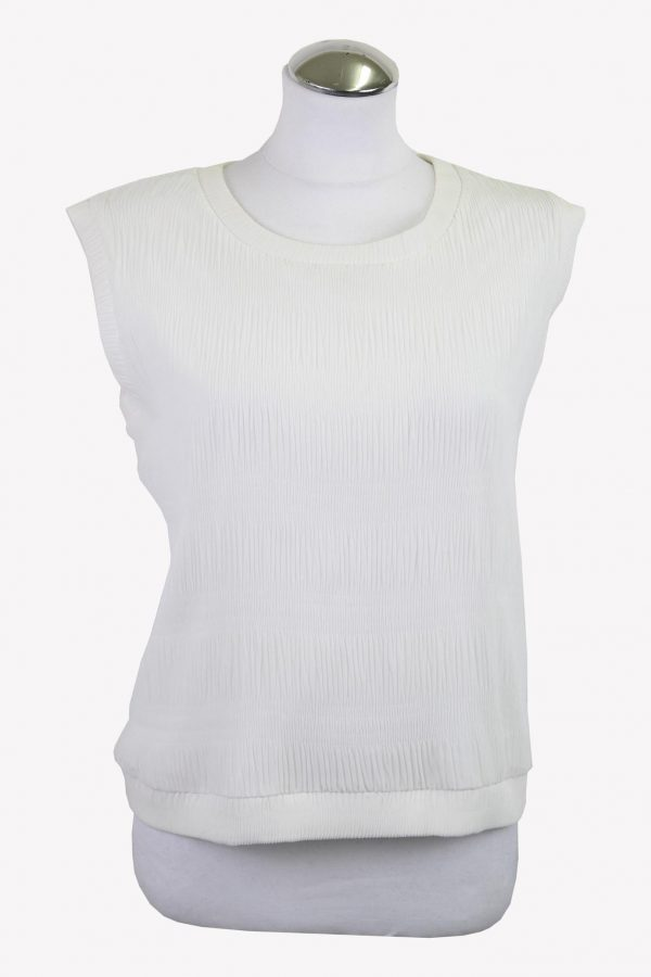 Emporio Armani Top in Weiß aus Polyester Alle Jahreszeiten.1