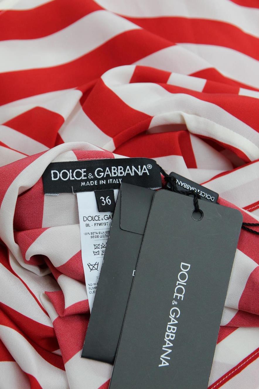 Bluse in Multicolor aus Seide Dolce & Gabbana