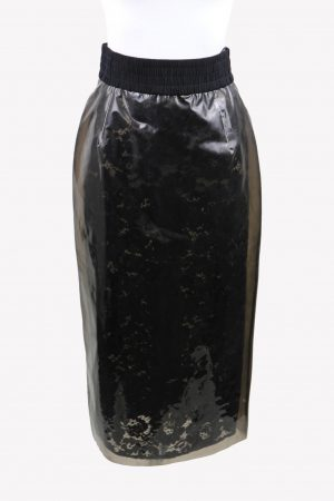 No .21 Bleistiftrock in Schwarz aus Polyurethan Alle Jahreszeiten.1