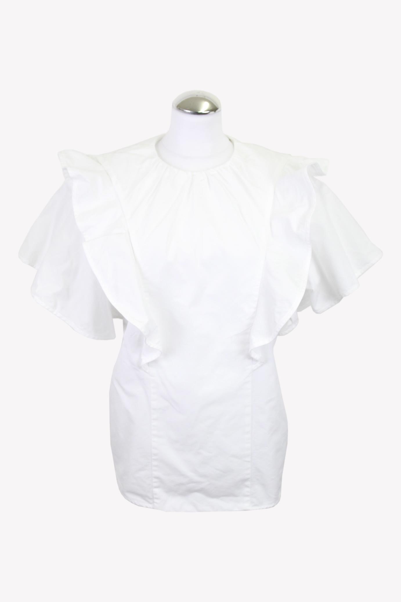 Mulberry Bluse in Weiß aus Baumwolle aus Baumwolle Alle Jahreszeiten.1