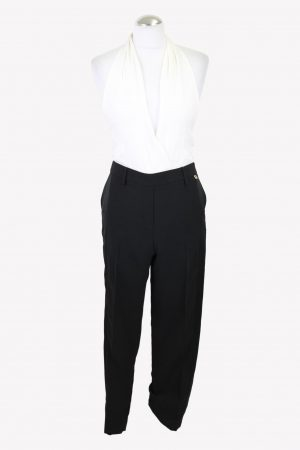 Twin-Set Simona Barbieri Overall in Schwarz / Weiß aus Polyester Alle Jahreszeiten.1