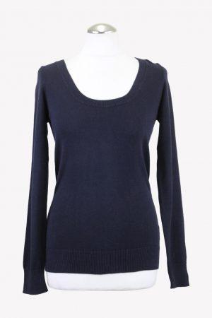 No. 21 Pullover in Blau aus Wolle aus Wolle Alle Jahreszeiten.1