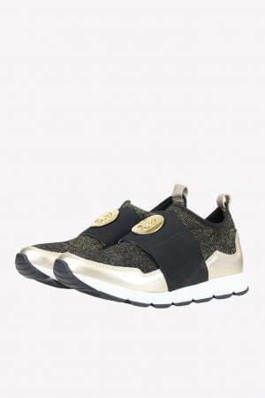 Roberto Cavalli Sneaker in Gold aus Textil/Synthetik .1