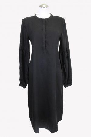 Bruuns Bazaar Shiftkleid in Schwarz aus Tencel Alle Jahreszeiten.1