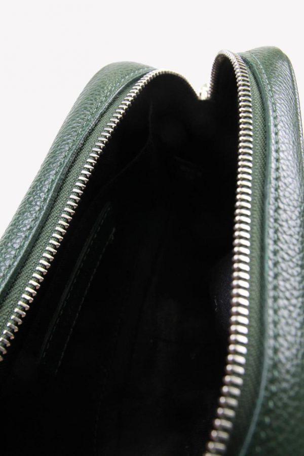 Umhängetasche in Grün aus Leder Rebecca Minkoff
