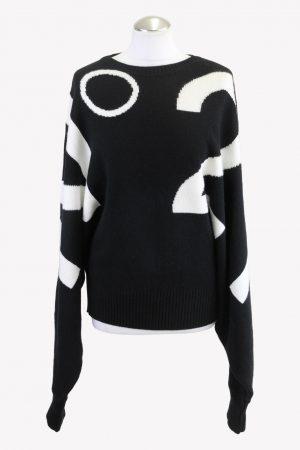 No. 21 Pullover in Schwarz / Weiß aus Wolle aus Wolle Alle Jahreszeiten.1