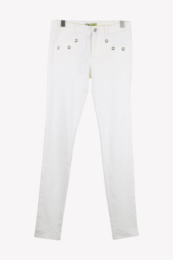 Versace Stoffhose in Weiß aus Viskose Alle Jahreszeiten.1