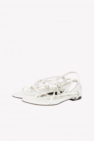 3.1 Phillip Lim Sandalen in Weiß aus Leder.1