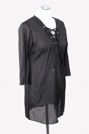 Badekleid in Schwarz aus Baumwolle Michael Kors