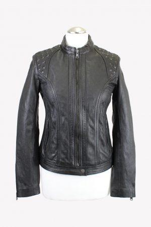 JCC Jacke in Schwarz aus Leder aus AG14015 AG14015.1