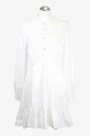The Kooples Kleid in Weiß aus Baumwolle aus AG14032 AG14032.1