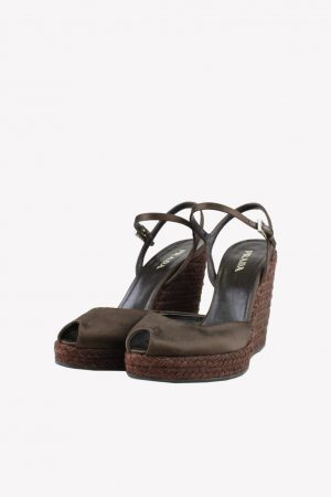 Prada Sandalen in Braun aus Leder.1