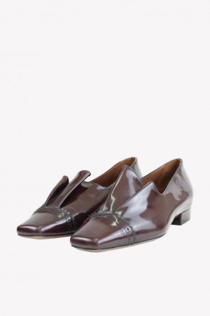 L'Autre Chose Loafers in Bordeaux aus Leder.1