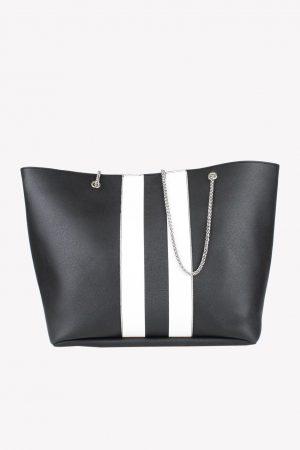 Cosmoparis Schultertasche in Schwarz / Weiß.1
