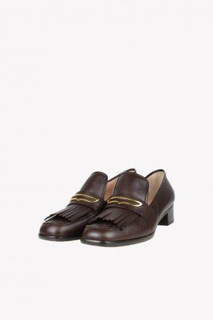 Alberta Ferretti Loafers in Braun aus Leder.1